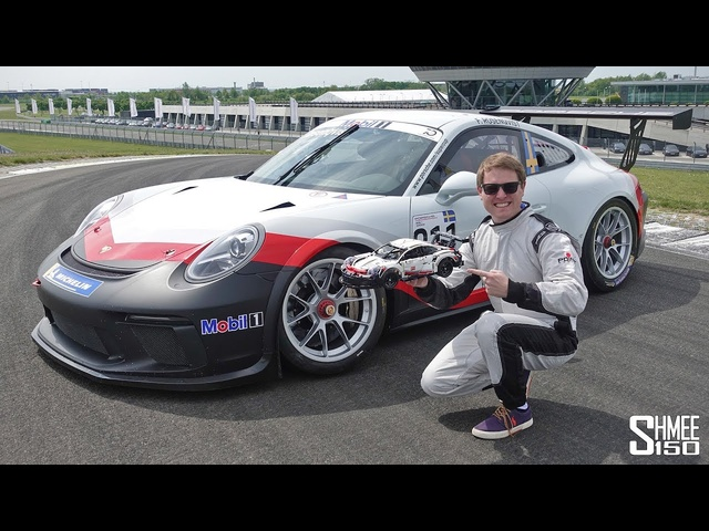 Can I Build a LEGO Porsche While Racing in a 911 Cup?! CHALLENGE