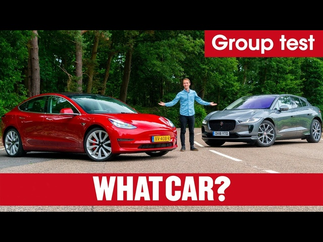 2020 Tesla Model 3 vs <em>Jaguar</em> I-Pace SUV review – which is best? Electric car showdown | What Car?