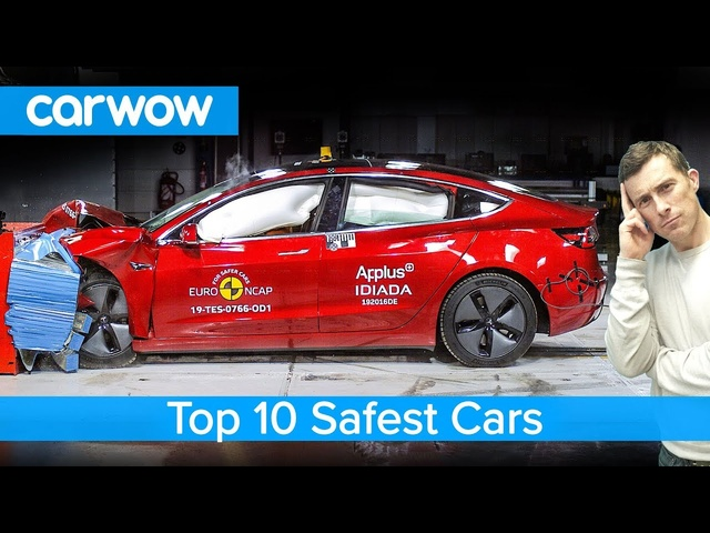 Top 10 SAFEST cars of 2019 - including the <em>Tesla</em> Model 3!