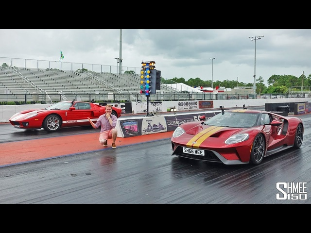 DRAG RACE: New Ford GT vs 2005 Heffner GT700