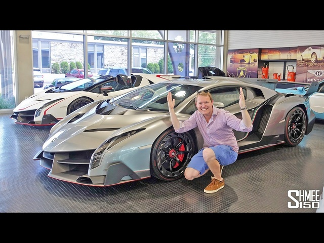 FINDING TWO UNICORNS! Lamborghini Veneno Coupe and Roadster