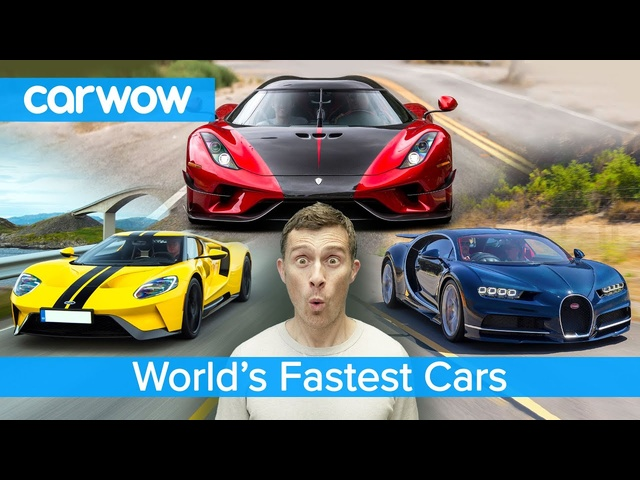 Bugatti Chiron, Koenigsegg Regera, Ford GT - here are the fastest cars in the world!