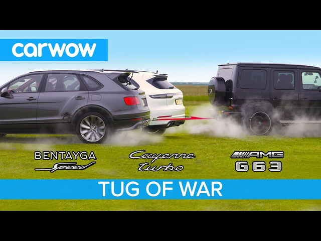 AMG G63 vs <em>Bentley</em> Bentayga Speed & Porsche Cayenne Turbo - TUG OF WAR!