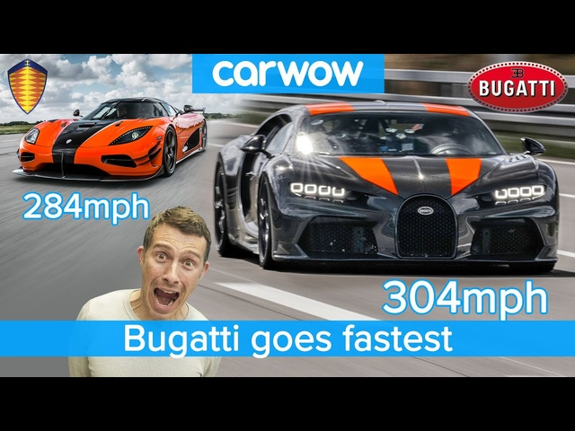 304mph in a <em>Bugatti</em> Chiron - see how it destroys the Koenigsegg Agera RS!