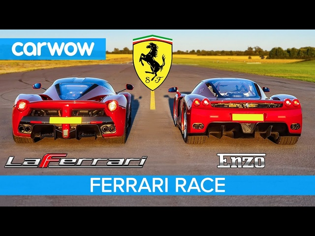 <em>Ferrari</em> Enzo vs La<em>Ferrari</em> - RACE & BRAKE TEST
