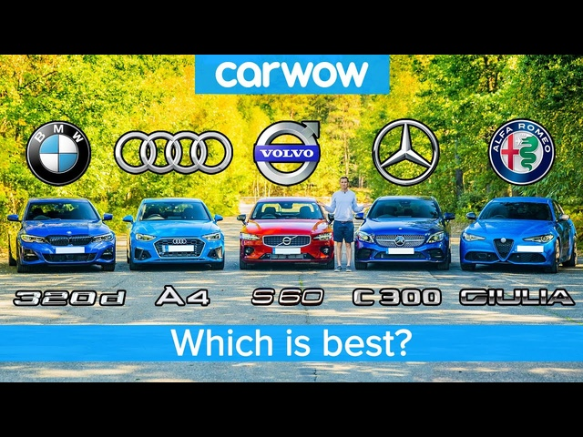 BMW 3 Series v <em>Audi</em> A4 v Merc C-Class v Volvo S60 v Alfa Giulia – which is best?