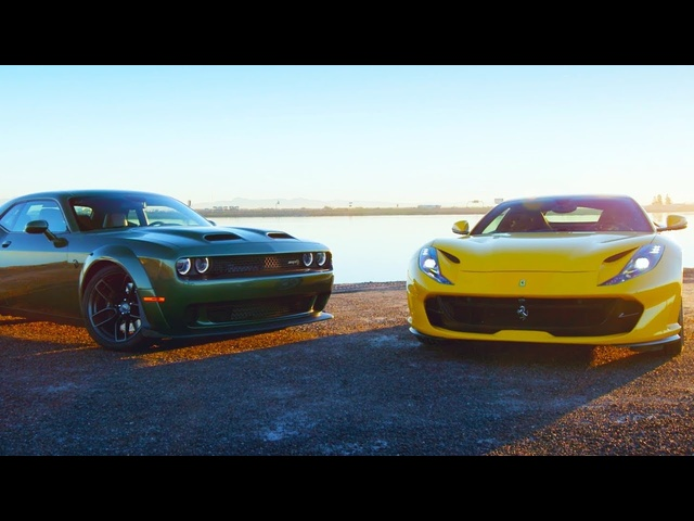 Head 2 Head FULL EPISODE | 2018 Ferrari 812 Superfast v 2019 <em>Dodge</em> Challenger Hellcat Redeye—Ep. 108