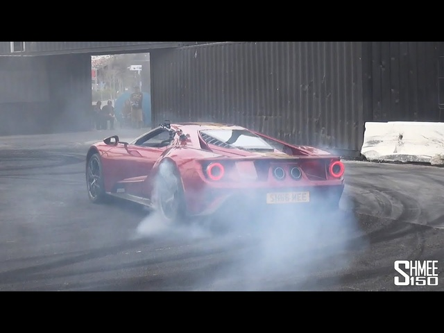 DEMOLISHING My Ford GT Tires with DDE at the HOONIGAN BURNYARD!