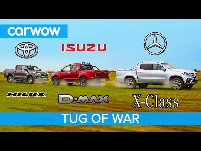 Mercedes X-Class vs Toyota Hilux vs Isuzu D-Max: Pickup TUG OF WAR!