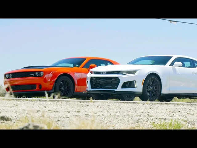 Head 2 Head FULL EPISODE | <em>Dodge</em> Challenger Hellcat Widebody vs Chevrolet Camaro ZL1—Episode 105