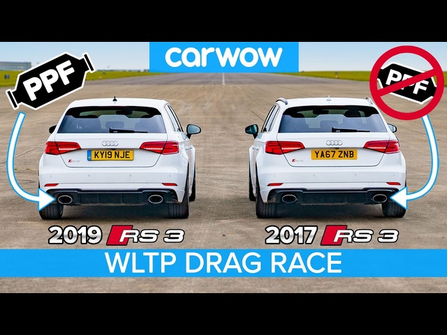 <em>Audi</em> RS3 2020 vs 2017: DRAG RACE & DYNO TEST... have the new emissions regs ruined performance cars?