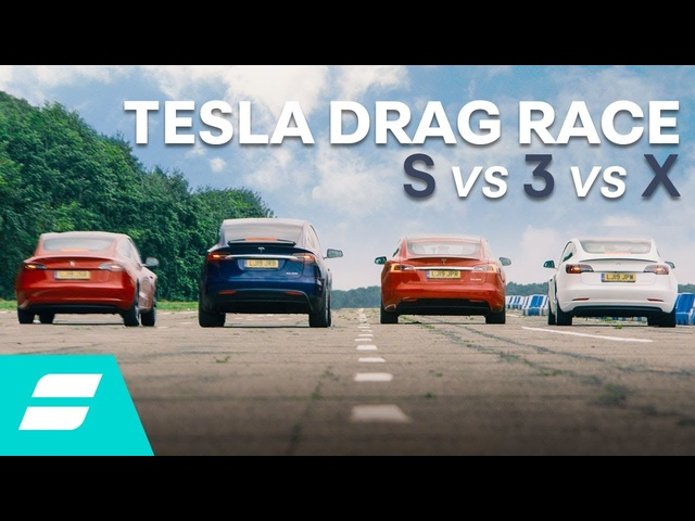 Drag Race: <em>Tesla</em> Model 3 vs Model S vs Model X vs Model 3 Performance