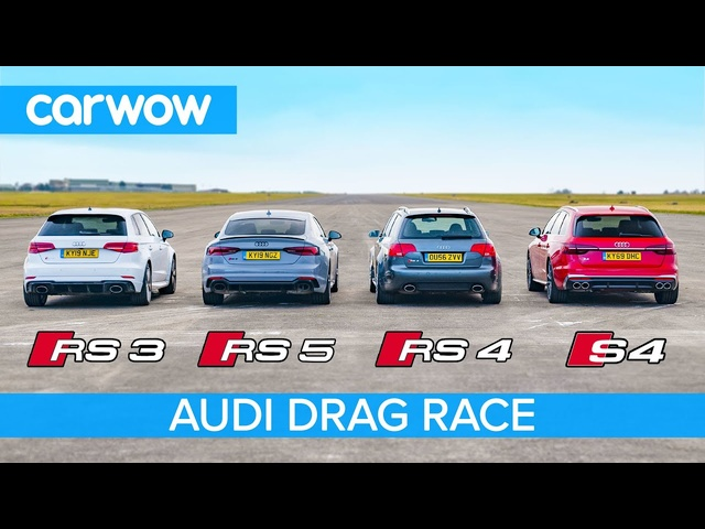 <em>Audi</em> RS5 vs RS3 vs S4 vs old RS4: Drag Race *Closer than you think*
