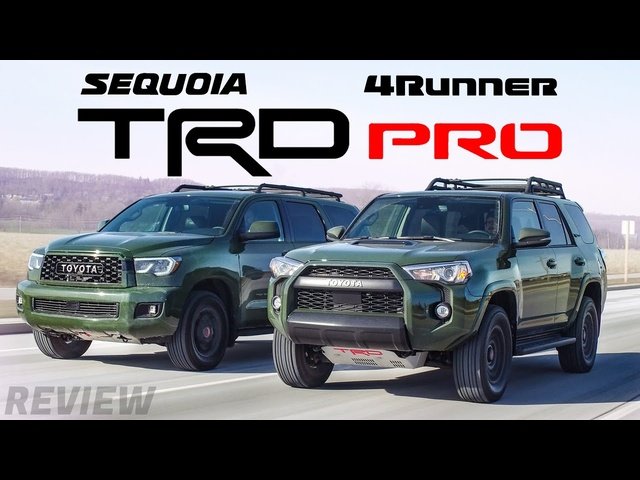 Which TRD Pro is Better? 2020 Toyota Sequoia vs Toyota 4Runner