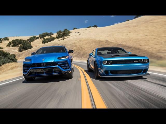 <em>Dodge</em> Challenger Hellcat Redeye Widebody vs. Lamborghini Urus—2019 BDC Hot Lap Matchup