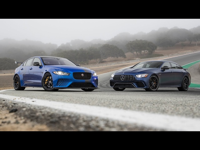<em>Jaguar</em> XE SV Project 8 vs. Mercedes-AMG GT 63 4MATIC+—2019 BDC Hot Lap Matchup