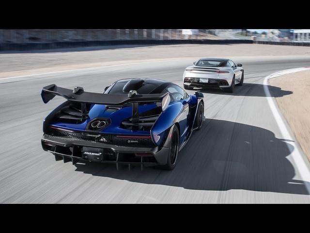 Aston Martin DBS Superleggera vs. <em>McLaren</em> Senna—2019 BDC Hot Lap Matchup