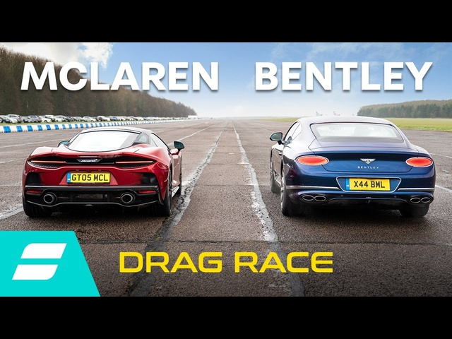 Drag Race: McLaren GT vs <em>Bentley</em> Continental GT V8