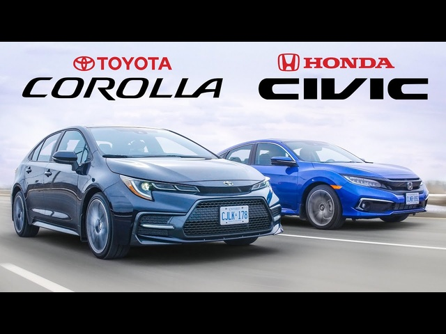 Battle of the Best Selling Cars - 2020 Honda Civic vs Toyota Corolla