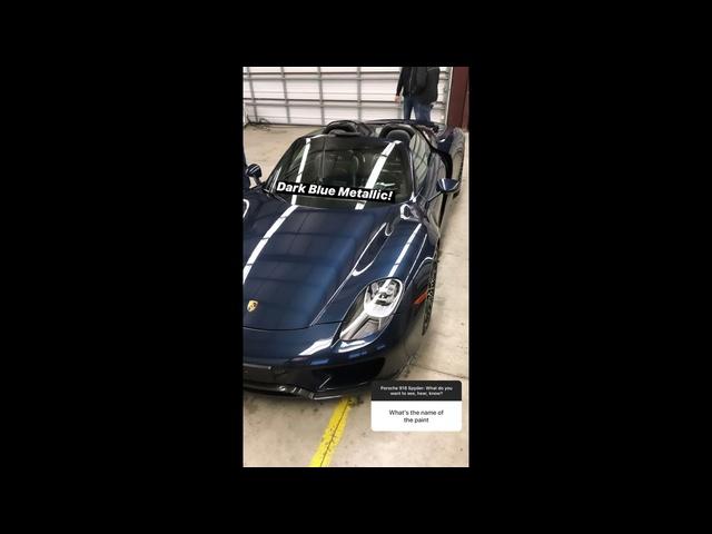 2014 Porsche 918 Spyder Instagram Q&A