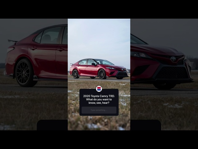 2020 <em>Toyota</em> Camry TRD Instagram Q&A