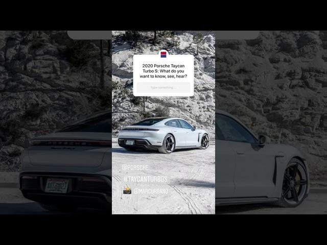 2020 <em>Porsche</em> Taycan Turbo S Instagram Q&A