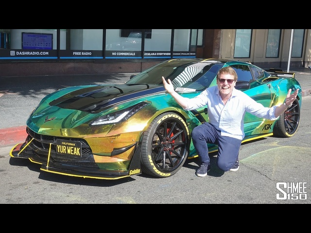 CRAZY Reactions to the CRAZIEST Corvette in Hollywood!