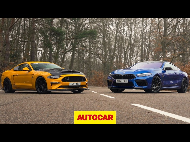 BMW M8 Competition vs 825bhp Ford Mustang review | Europe v USA showdown | Autocar