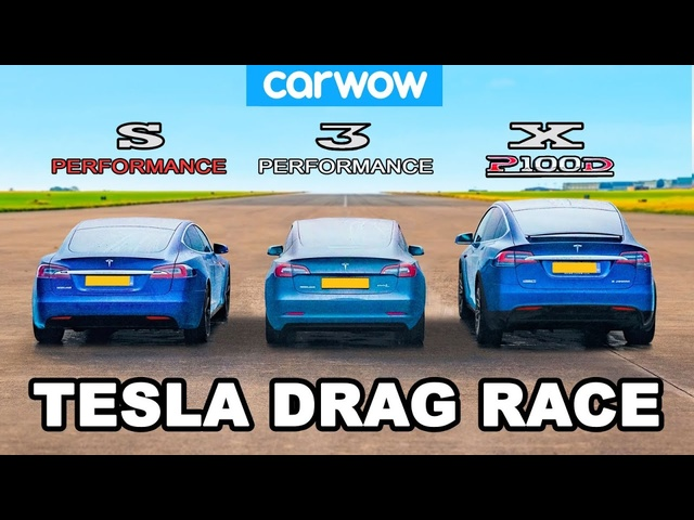 Model S vs 3 vs X - Tesla Performance DRAG RACE, ROLLING RACE & BRAKE TEST!