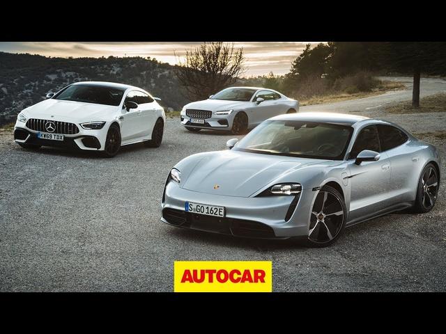 <em>Porsche</em> Taycan Turbo S v Polestar 1 v Mercedes-AMG GT 63 S 4dr | Autocar
