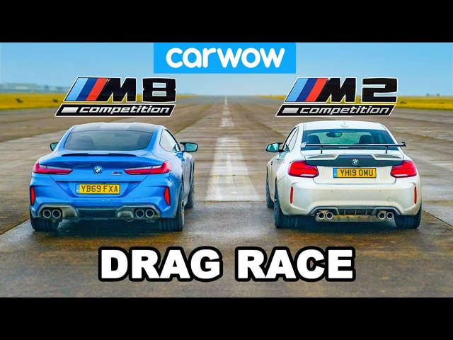BMW M8 vs M2: DRAG RACE *David vs Golliath!*