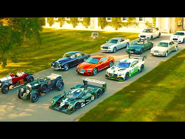 Bentley 100 Years Funny Commercial Goodwood Bentley Full Line Up + Classic Benlteys Le Mans Carjam