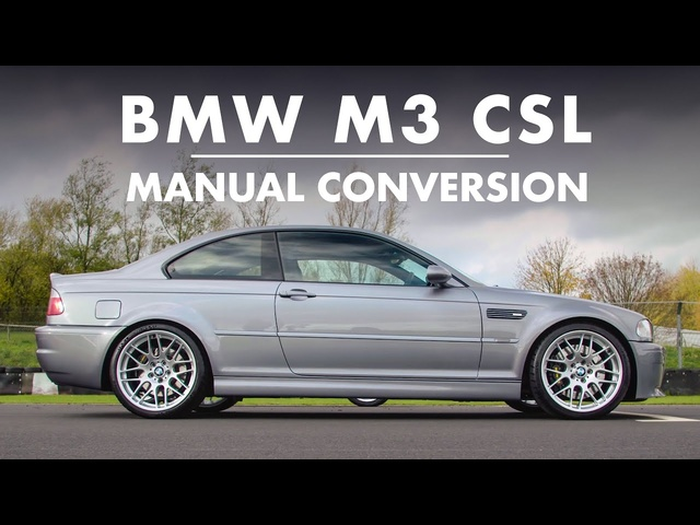 BMW E46 M3 CSL -CONVERTED TO MANUAL! | Carfection 4K