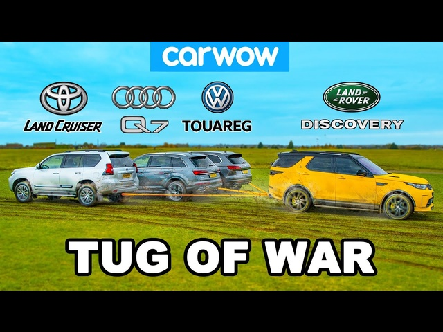 Toyota Land Cruiser, <em>Audi</em> Q7 & VW Touareg vs Land Rover: TUG OF WAR!