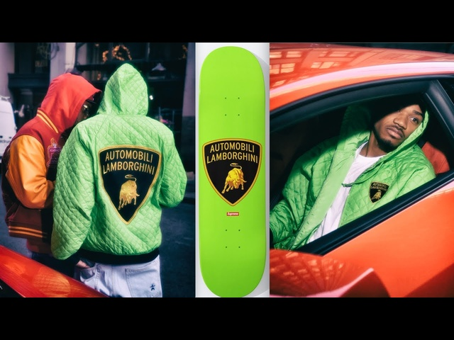 Supreme Lamborghini Collection In Full Supreme Hoodie Lamborghini Skateboard Video Drop Carjam TV