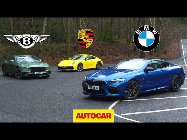 BMW M8 Competition v Bentley Continental GT v Porsche 911 | Autocar
