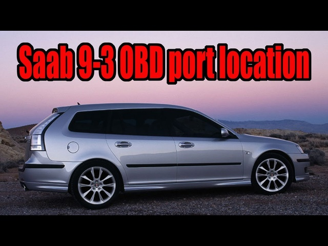 How to find the OBD port socket on an a Saab 9-3