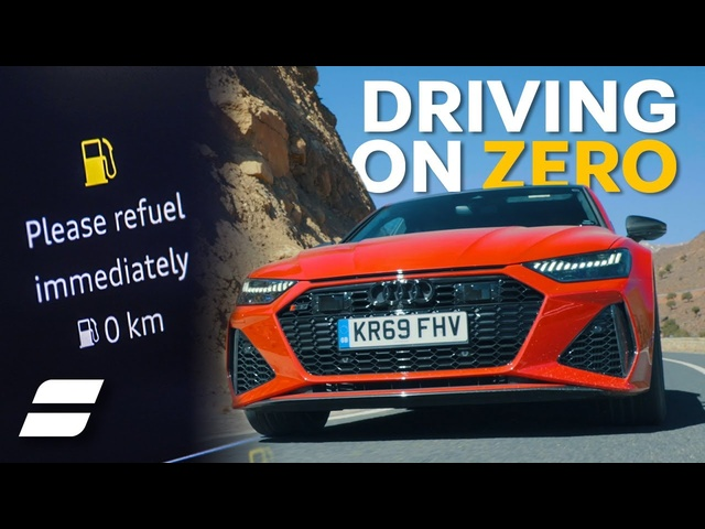 <em>Audi</em> RS7: How Far Can You Drive A V8 With ZERO Fuel?