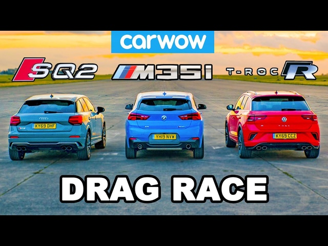 BMW v Audi v VW - HOT HATCH (in disguise) DRAG RACE