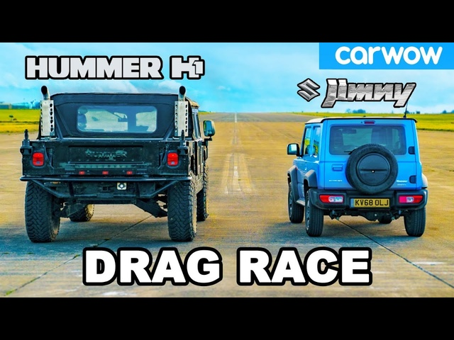 Hummer H1 vs Suzuki Jimny - DRAG RACE *USA ???????? vs Japan ???????? *