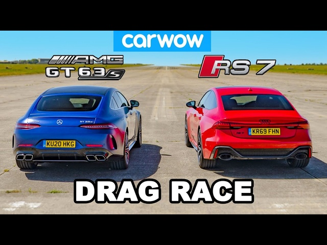 <em>Audi</em> RS7 vs AMG GT 63S 4-Door: DRAG RACE