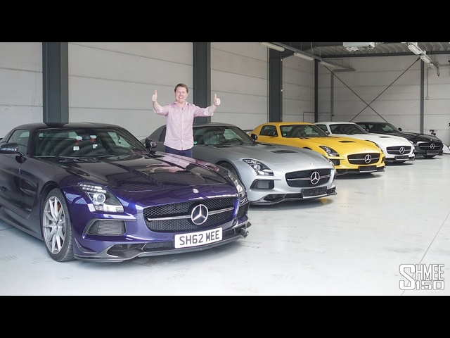 FIVE RARE Mercedes SLS AMG Black Series TOGETHER!