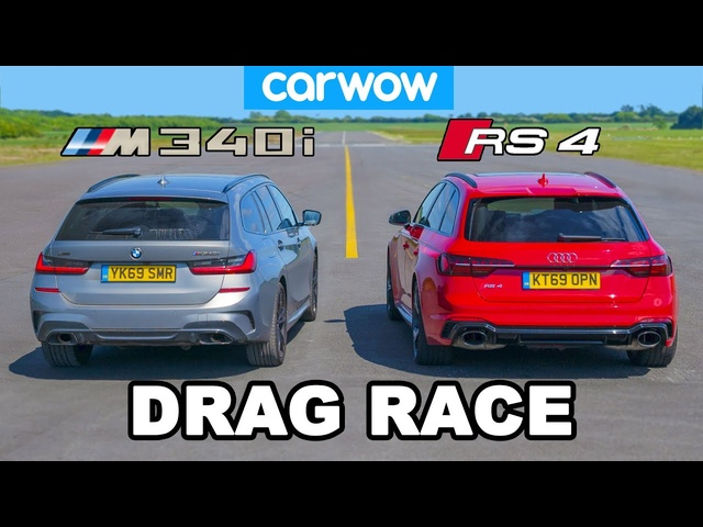 BMW M340i v <em>Audi</em> RS4: DRAG RACE * shock result *