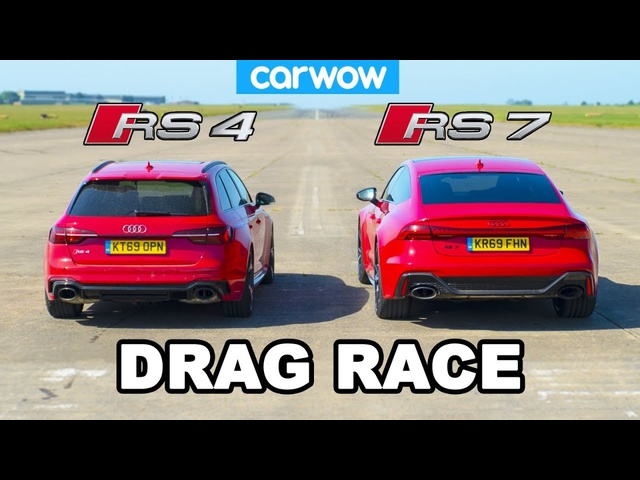 <em>Audi</em> RS7 vs <em>Audi</em> RS4: DRAG RACE