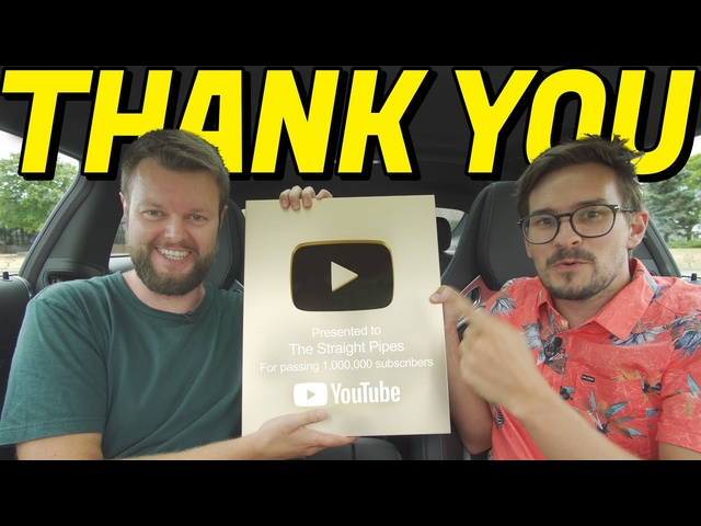 Thanks for getting us to 1 Million Subscribers - The Straight Pipes