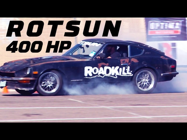 "400HP Junk <em>Datsun</em> ""Rotsun"" Takes on a Rental Car! 