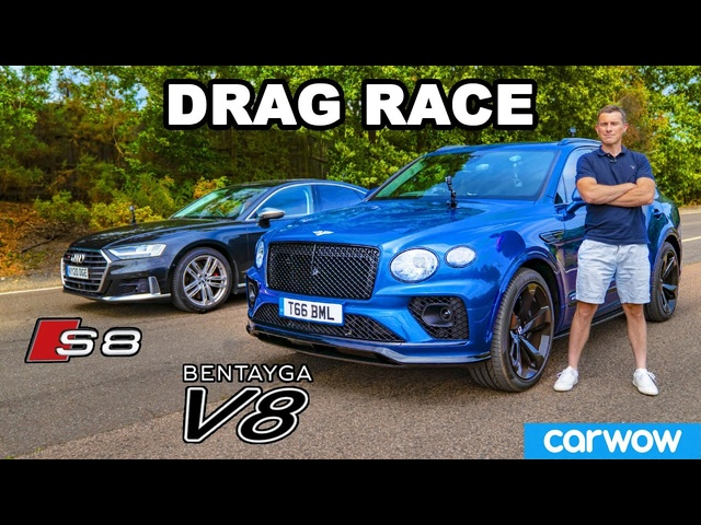 <em>Bentley</em> Bentayga review & DRAG RACE vs Audi S8!
