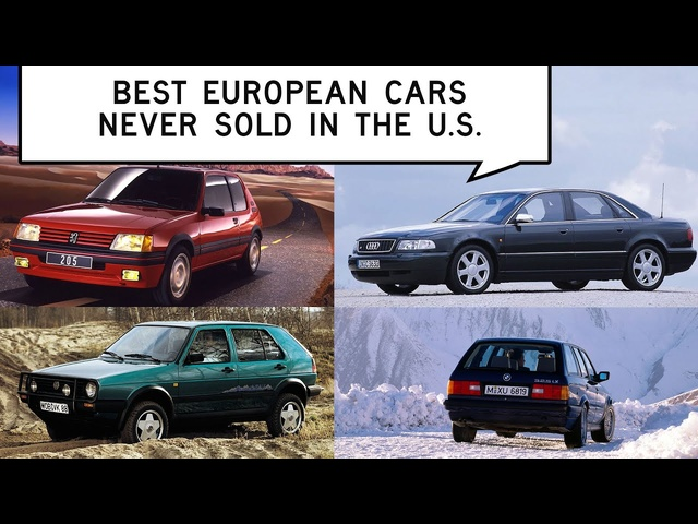 Best European Cars Never Sold in the U.S. for under $20K: Window Shop with Car and Driver