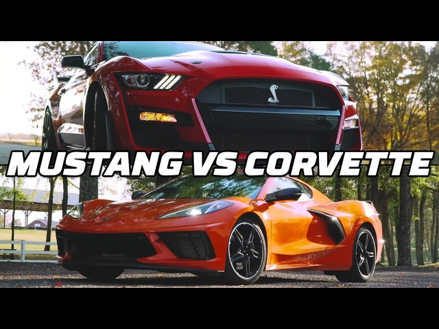 RACE: Mustang Shelby GT500 v Corvette Z51 @ Virginia Intl Raceway | MotorTrend
