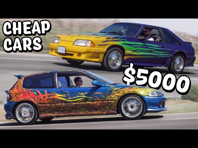Cheap Car Challenge - <em>Honda</em> Civic vs Ford Mustang